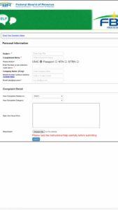 FBR New Complaint Management System