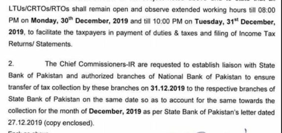 Last Date for Submission of Tax Return 2019